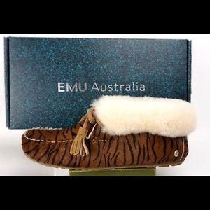 EMU Australia Moonah Tiger Print Slipper Tiger